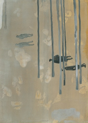 Jan Vanriet, Brzozy, 2003, olej napłótnie, 107 x 76 cm
