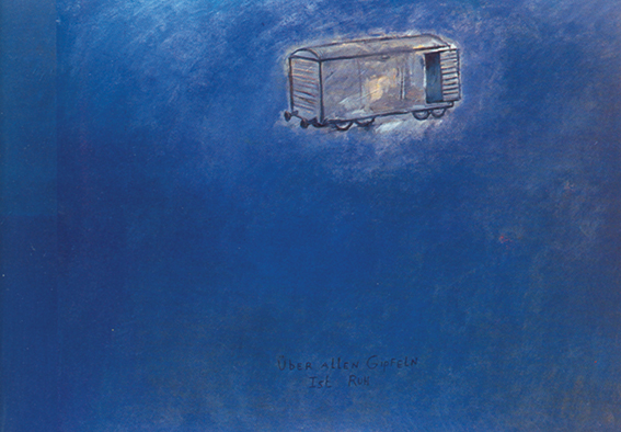 Jan Vanriet, Wierzchołki wzgórz, 1989, olej napłótnie, 95 x 120 cm