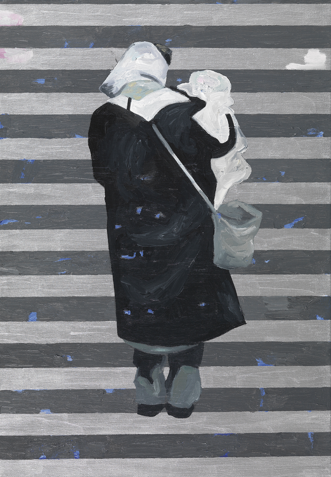 Jan Vanriet, Madonna, Zamkniete drzwi, 2004, olej napłótnie, 70 x 50 cm