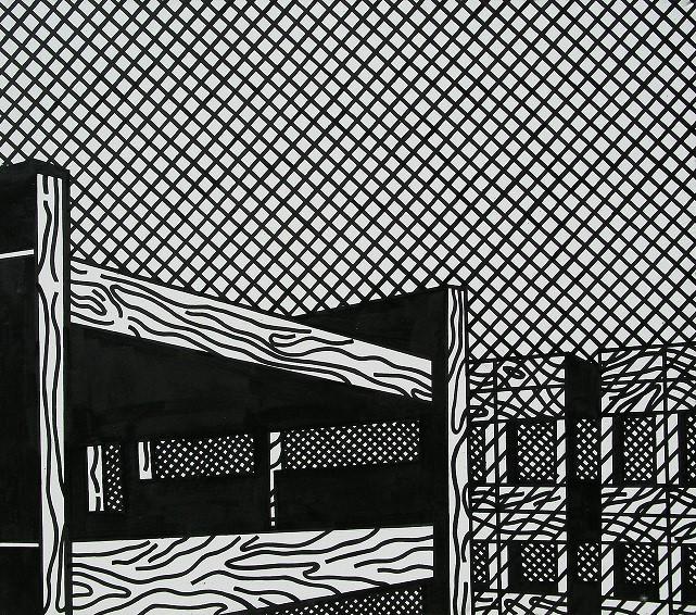 Wilhelm Sasnal, Maus 4, 2001 olej / płótno, 115 × 130 cm, dzięki uprzejmości W. Sasnala