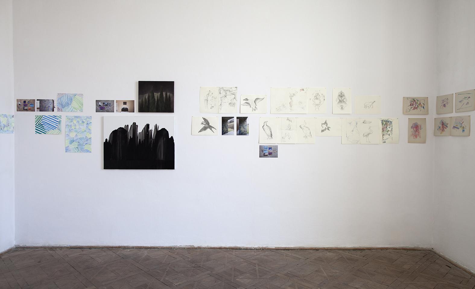 Szkice domurali orazdokumentacja projektu Aleksandy Czerniawskiej iAnny Panek