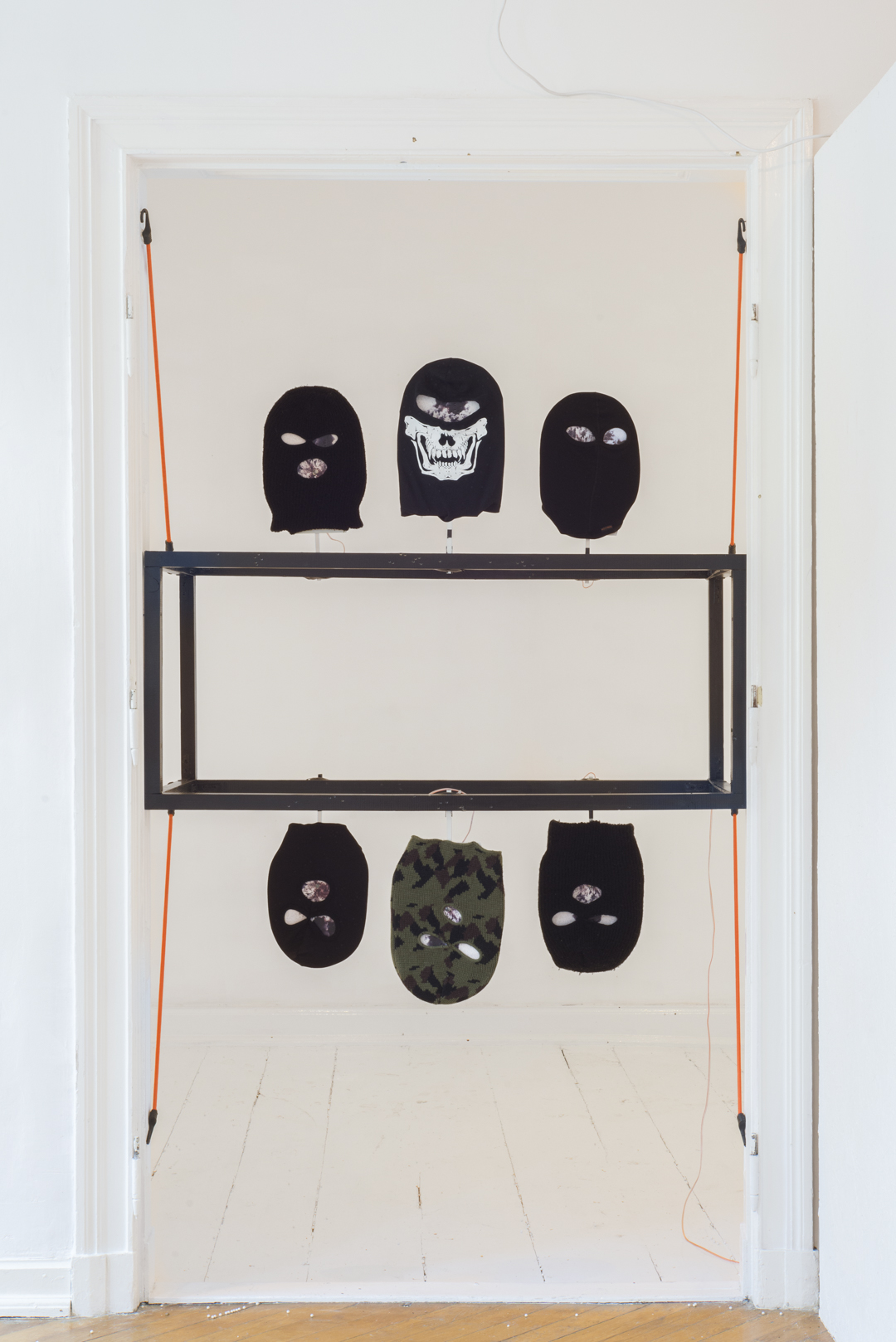 Tarcze, 2015, rzeźba kinetyczna, 140x131x57 cm