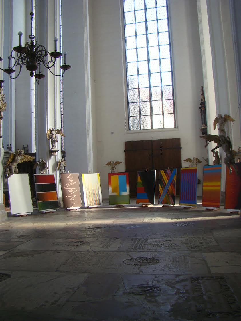 cykl Malowanie Dziesięciorga Przykazań, kościół Najświętszej Panny Marii wGdańsku