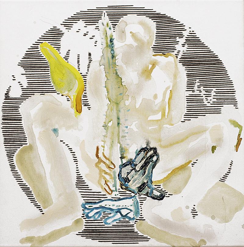 Kaktus, akryl, płótno, 40x40 cm, 2010