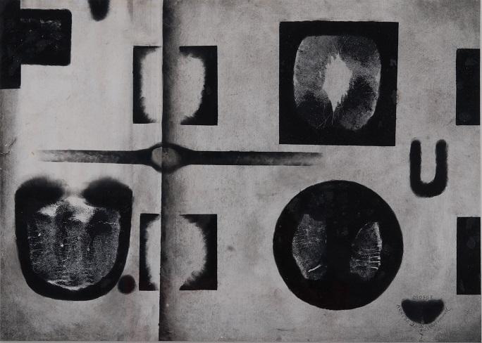 A.Matuszewski, Arkusz 32, 1968, technika mieszana, papier, 29 x 41 cm