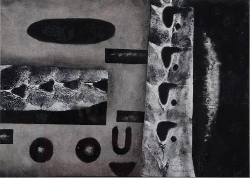 Andrzej Matuszewski, Arkusz 34, 1968, technika mieszana, papier, 29 x 41 cm