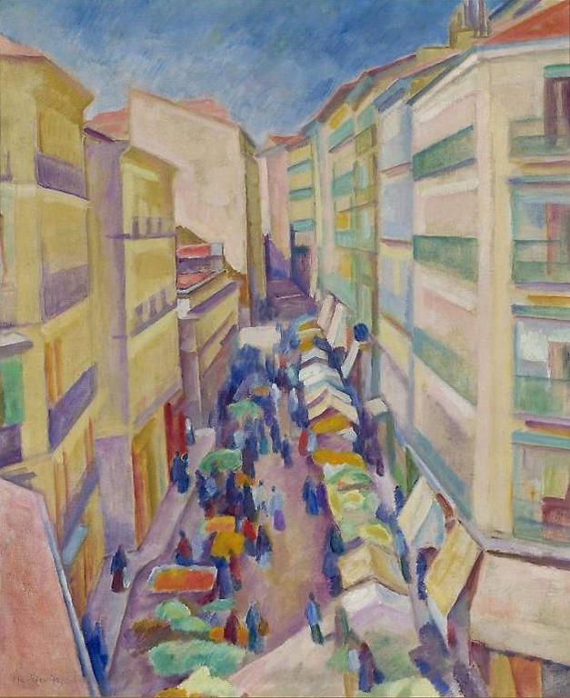 Józef Pankiewicz (1866-1940) Ulica wMadrycie, 1916-18 Muzeum Narodowe wWarszawie