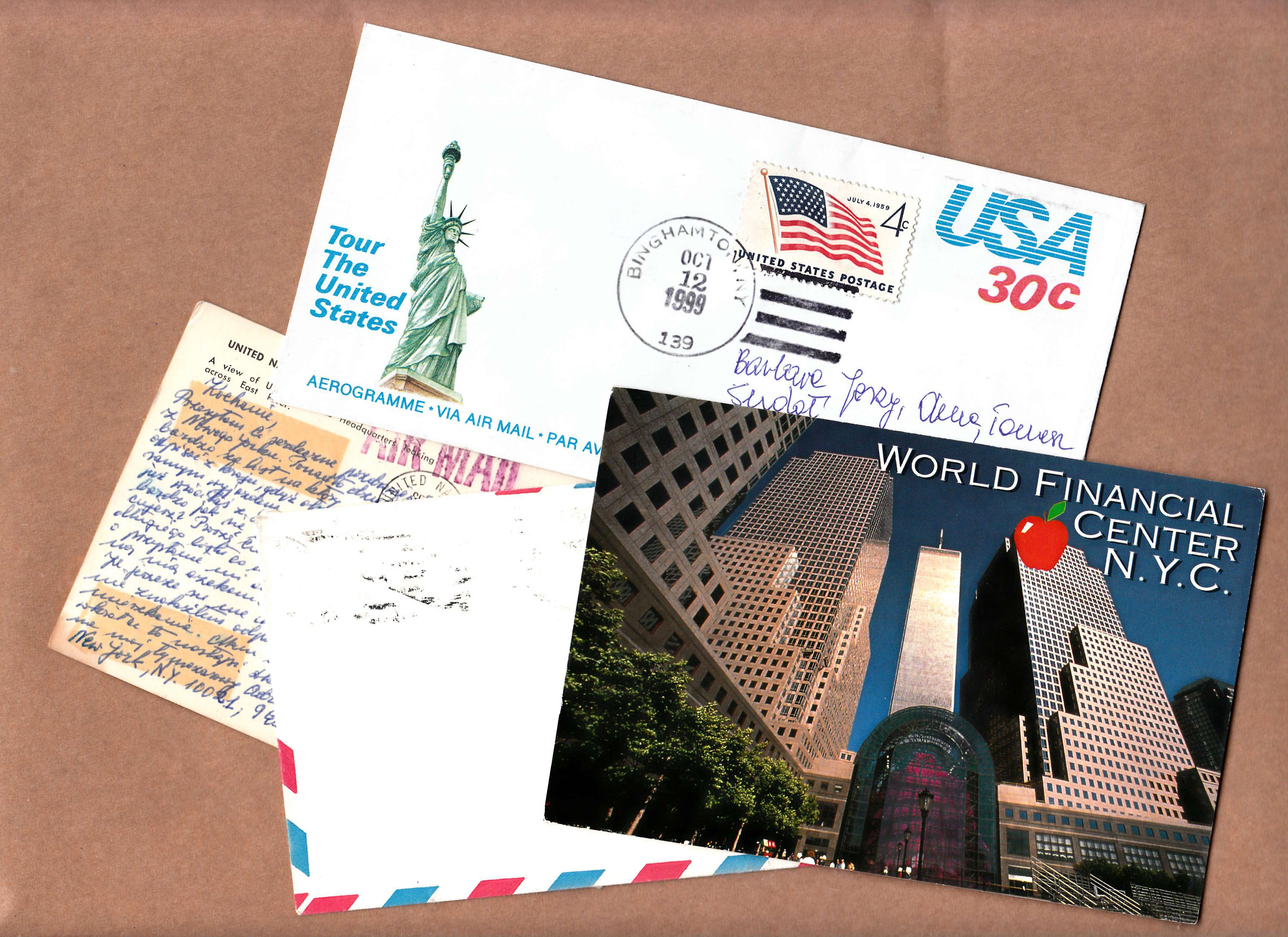 Kartki, koperty, listy zeStanów oddrugiej babki zosiedla, tejodLEGO, obiekty archiwalne