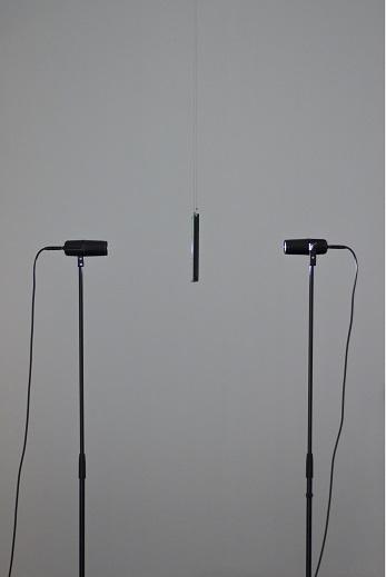 Judith Röder, Schirm (lightdots), 2015, szkło, oświetlenie punktowe odtwarzacz DMX