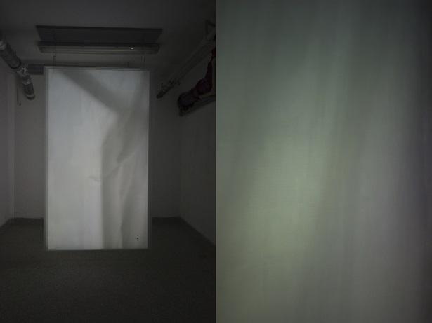 Judith Röder, Zasłona, 2010, szkło, projekcja video