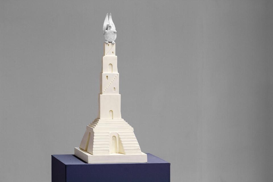 Małgorzata Niedzielko  Wieża Babel, 2015 rekonstrukcja modelu pomnika ku czci Ludwika Zamenhofa zaprojektowanego przezAbrahama Ostrzegę