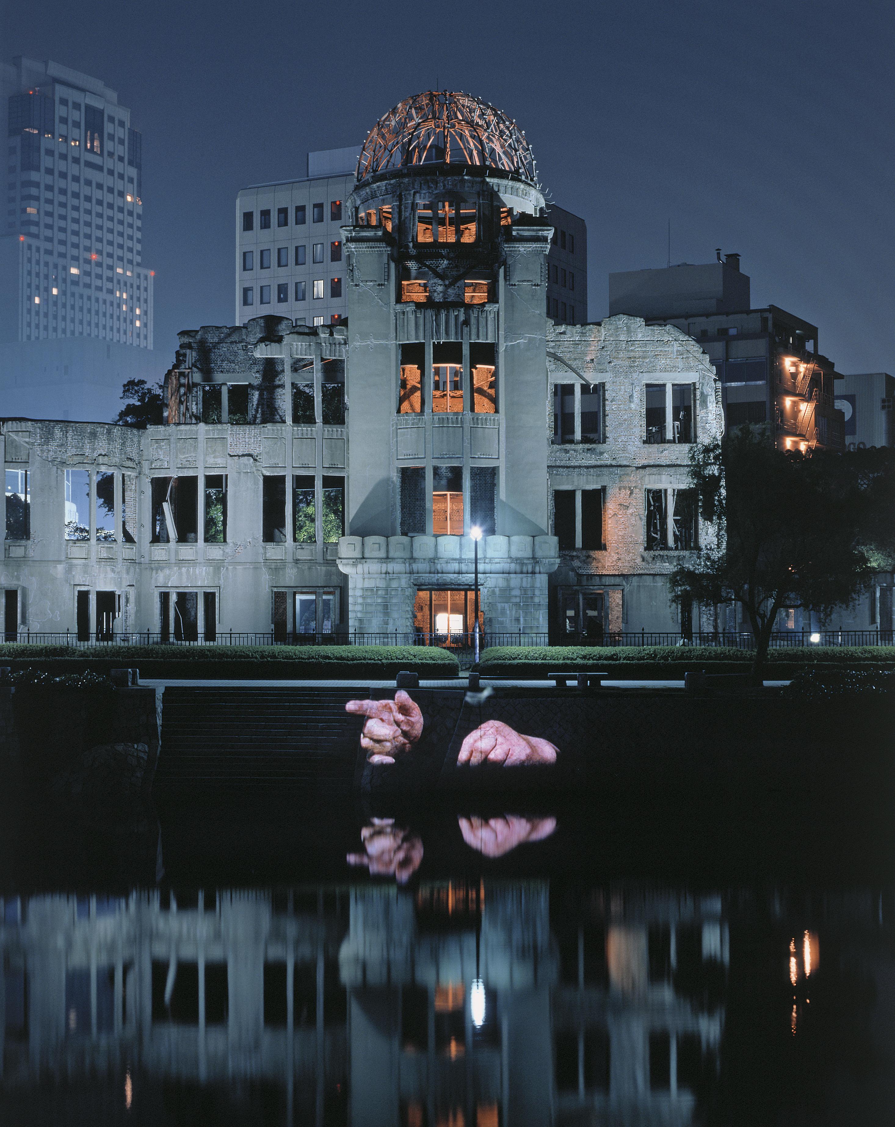 Projekcja wHiroszimie, Kopuła Bomby Atomowej, Hiroszima, 1999