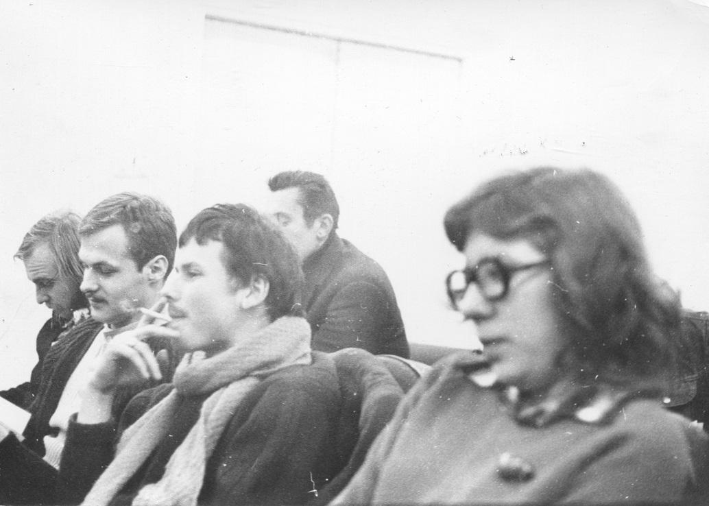 Piotr Piotrowski naodczycie Jerzego Ludwińskiego, luty 1977