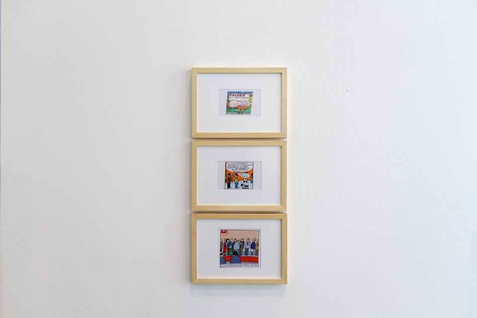 Marek Raczkowski, seria rysunków, tusz napapierze