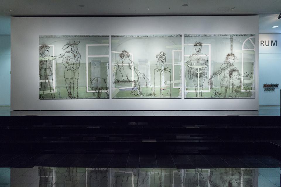 Jonas Gasiūnas – Malarstwo. Raz już takbyło... Obsesje – retrospektywa, widok wystawy