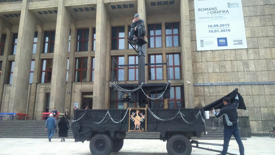 Pomnik Chłopa Daniela Rycharskiego podMuzeum Narodowym wKrakowie. fot.Szymon Maliborski