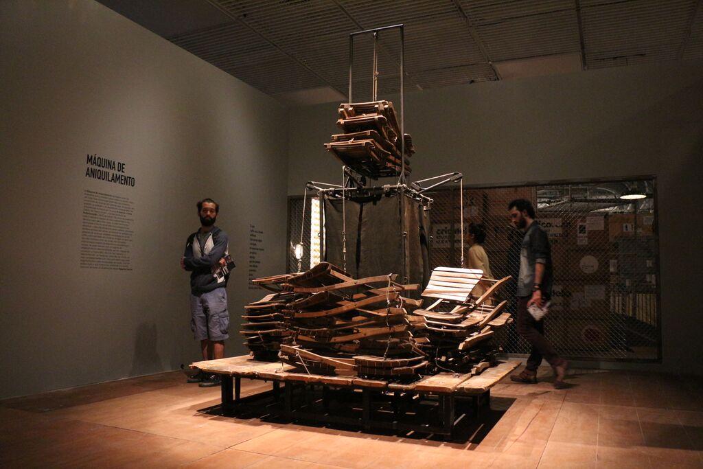 Maszyna Kantor, widok wystawy