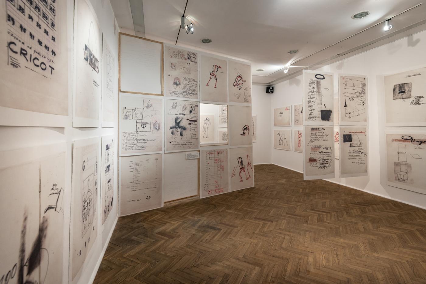 adeusz Kantor, Brudnopisy, widok wystawy, Galeria Foksal 2015