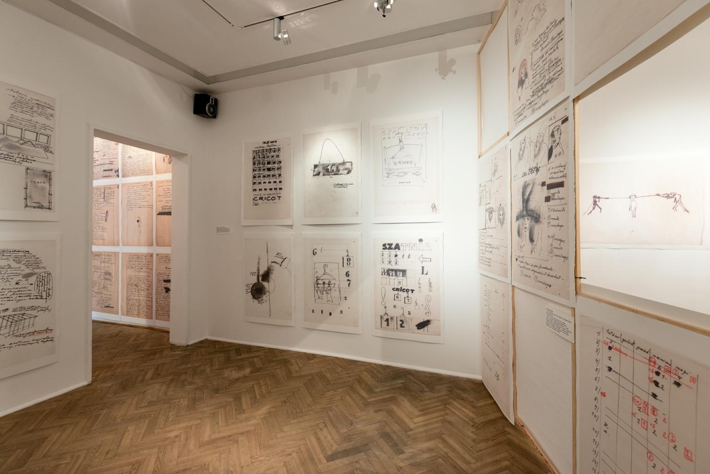 Tadeusz Kantor, Brudnopisy, widok wystawy, Galeria Foksal 2015