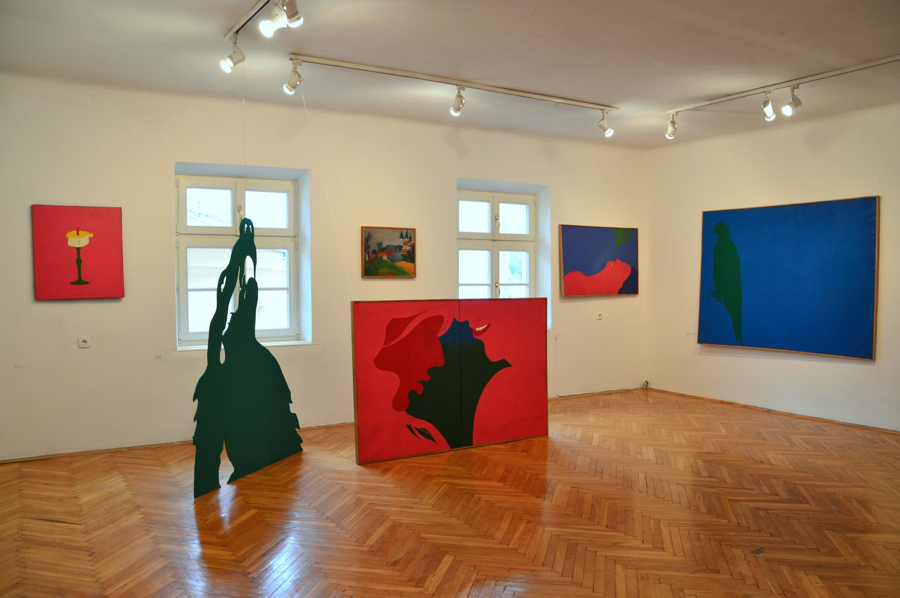 Jurry Zieliński Paradis widok wystawy wGalerii Zderzak, Kraków