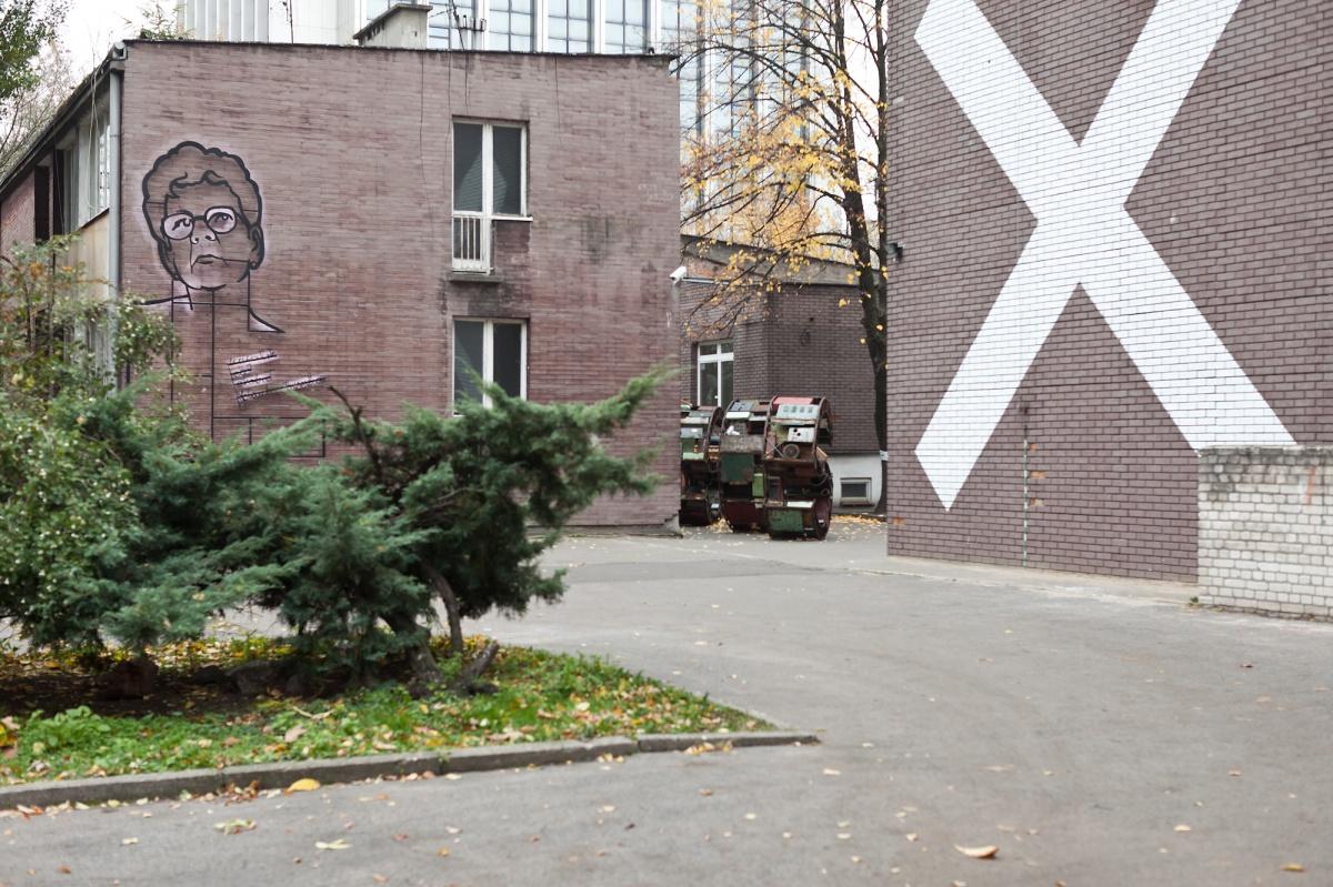 Dawny budynek Liceum im.Hoffmanowej - miejsce wystawy Spór oodbudowę