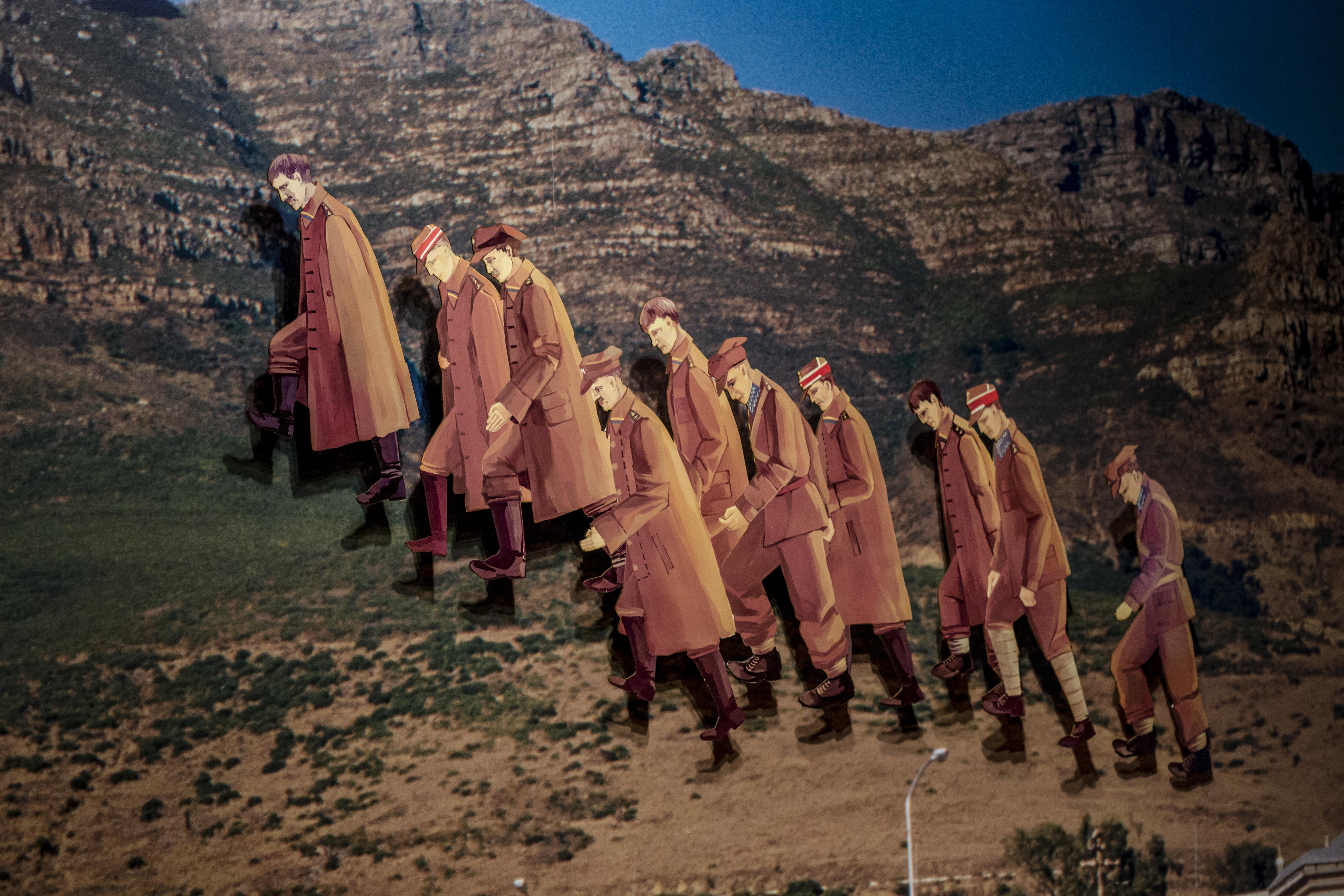 4. Yuri Leiderman, Ofiary Chatynia iKatynia spotykają się napiaszczystej drodze, naprzedmieściach Kapsztadu, 2005 (detal)