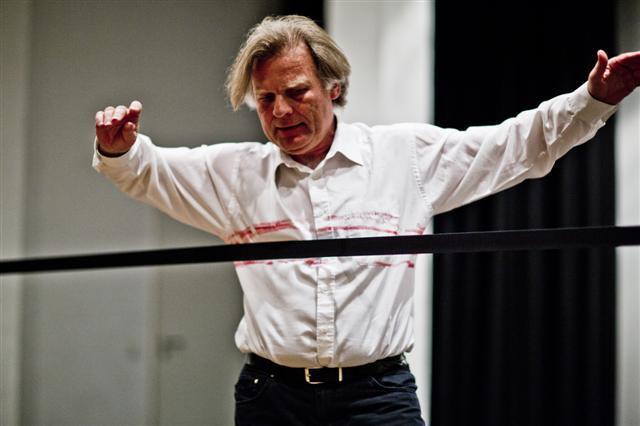 Janusz Bałdyga podczas jednej zeswoich akcji