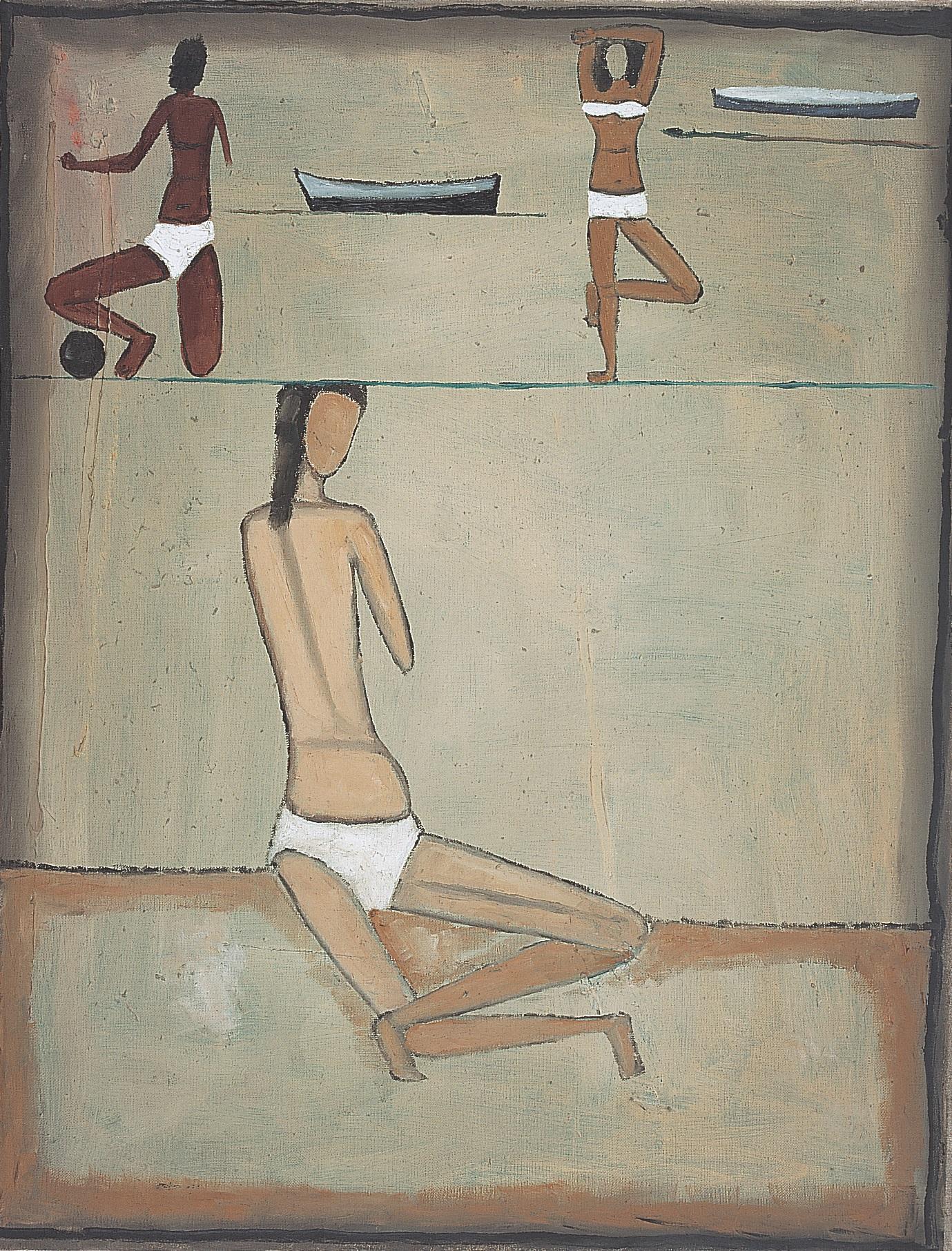 Jerzy Nowosielski, Plaża, 1958, 65 x 50 cm, olej/płótno, Fundacja Nowosielskich