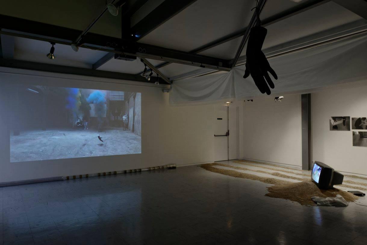 Michał Łagowski, Dobrodziejstwa dyskursu, 2011 zwystawy Je brûle Paris! wCité internationale des Arts wParyżu, fot.Aurelien Mole