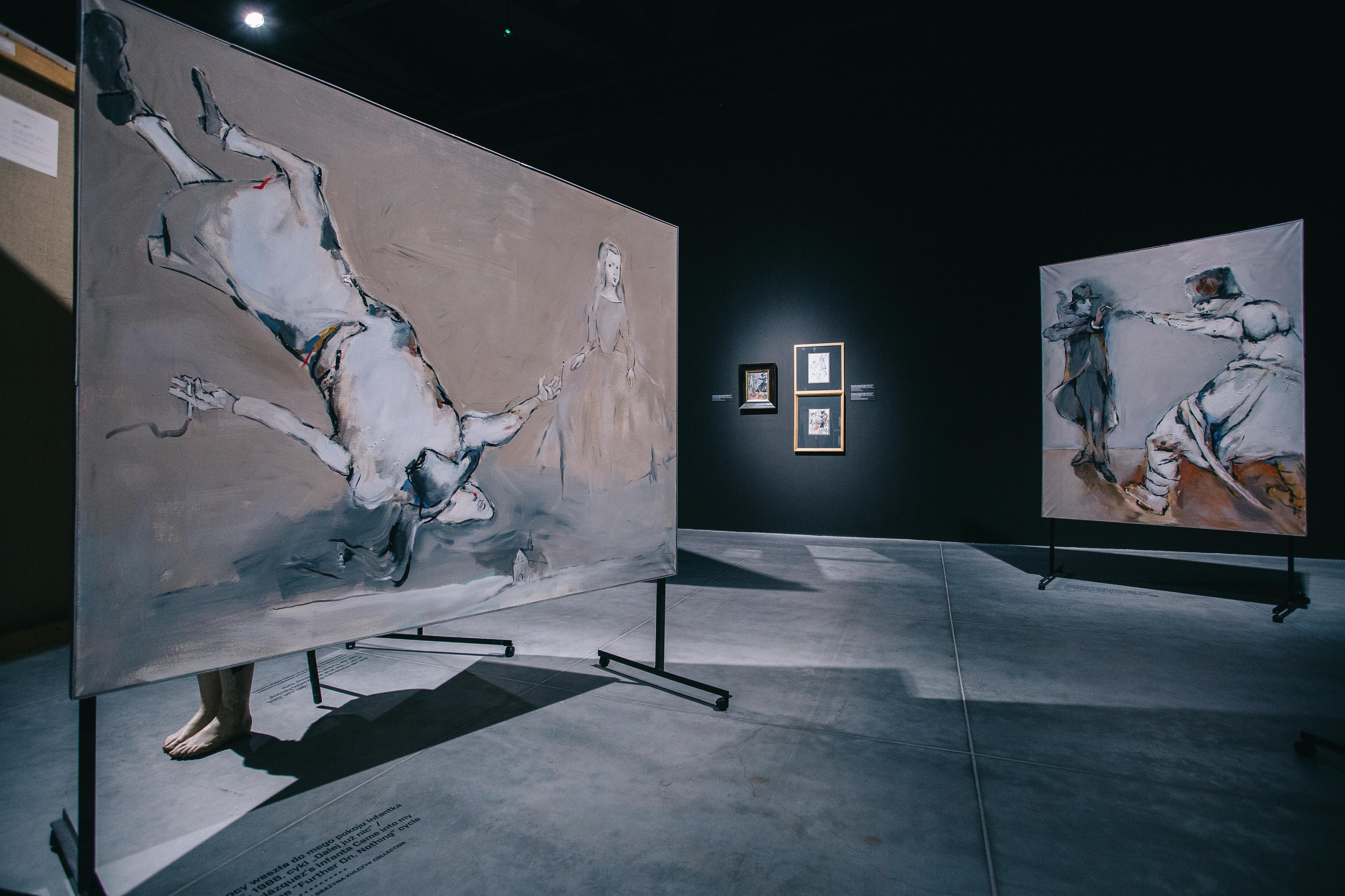 Tadeusz Kantor, Cholernie spadam!, widok wystawy