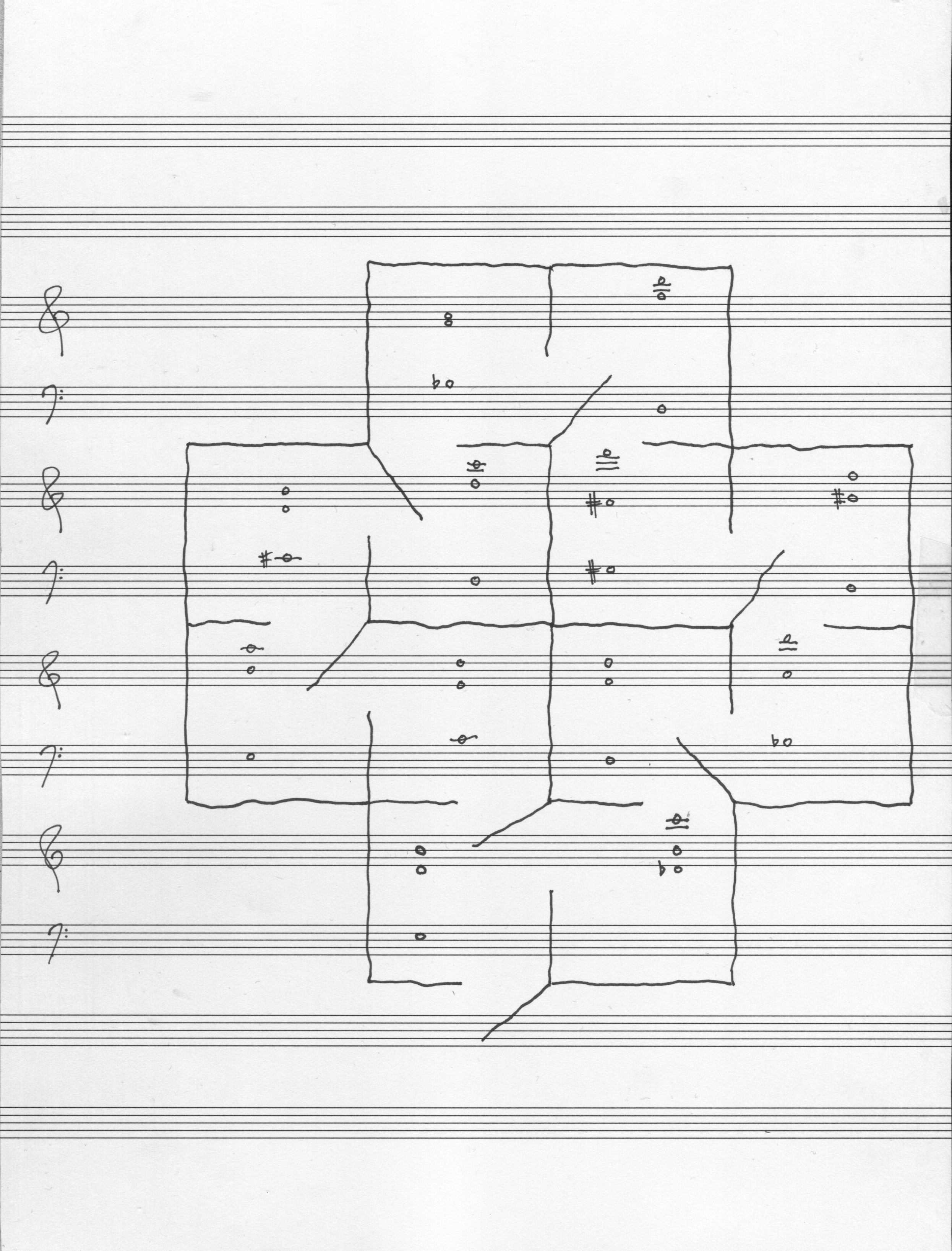 Piotr Bosacki, szkic doinstalacji Chamber Music