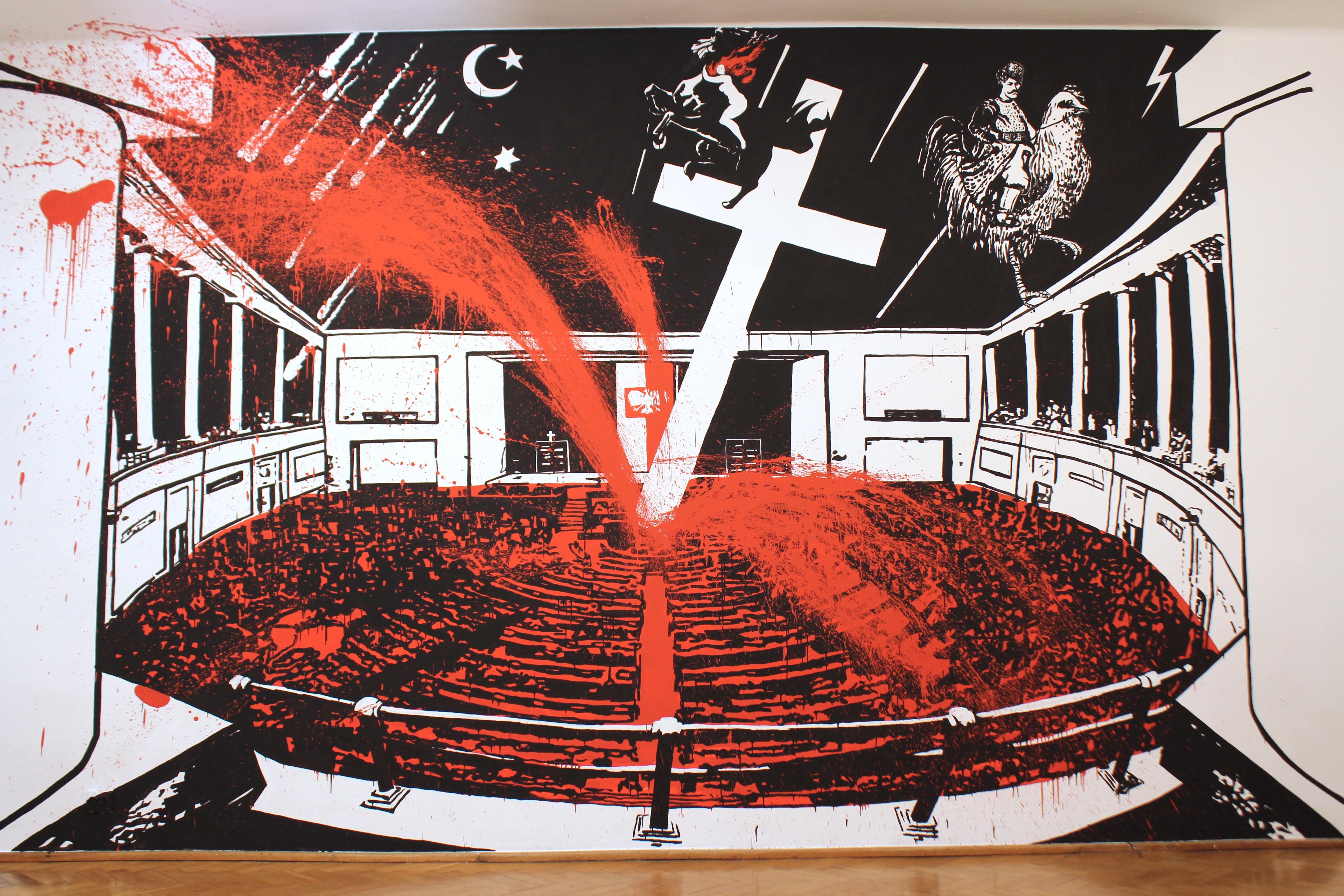 Volodymyr Kuznetsov Kiedy śpisz, mural, F.A.I.T. 1015r.