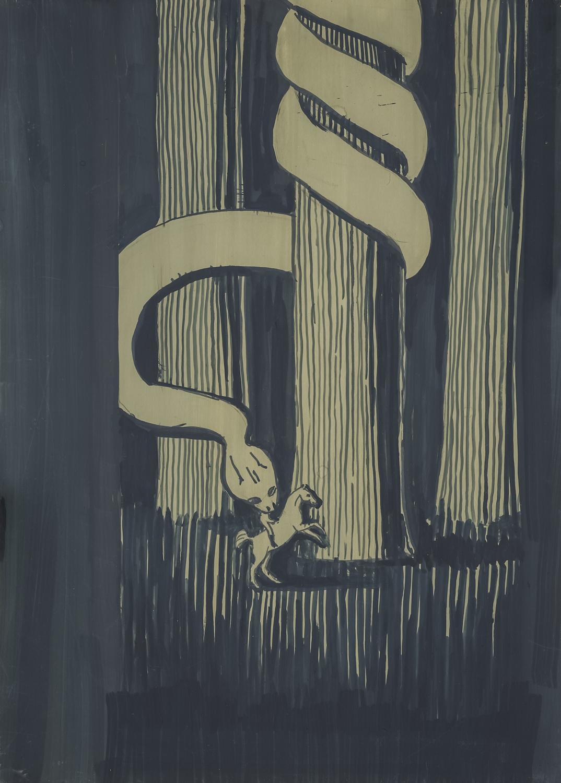 Aleksandra Waliszewska, Beztytułu, 35 x 25 cm, technika mieszana nakartonie, 2012-2014 dzięki uprzejmości artystki iLETO, Warszawa