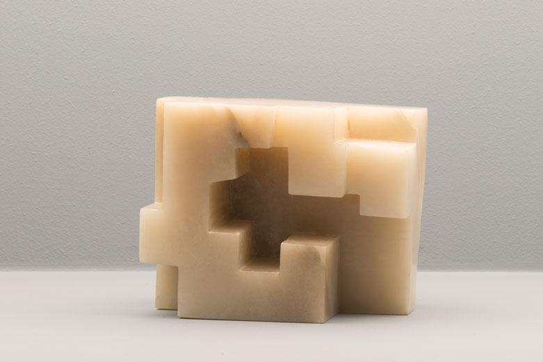 Eduardo Chillida, Estudio Para La Arquitectura Heterodoxa I, alabaster, 1974