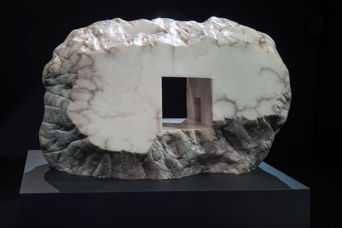 Eduardo Chillida, Elogio De La Luz XX, alabaster, 1990