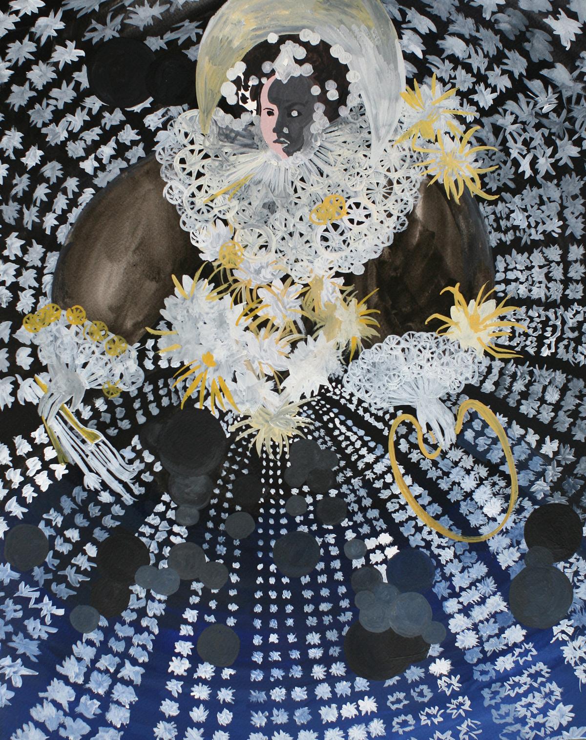 Pola Dwurnik, Królowa malarstwa inocy, 2014, gwasz napapierze