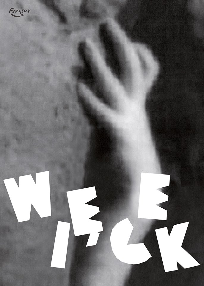 Plakat dowystawy Magdaleny Więcej autorstwa Wojciecha Fangora