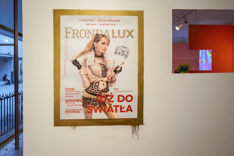 """Plakat okładki """"Frondy Lux"""" zADU, 2015"""