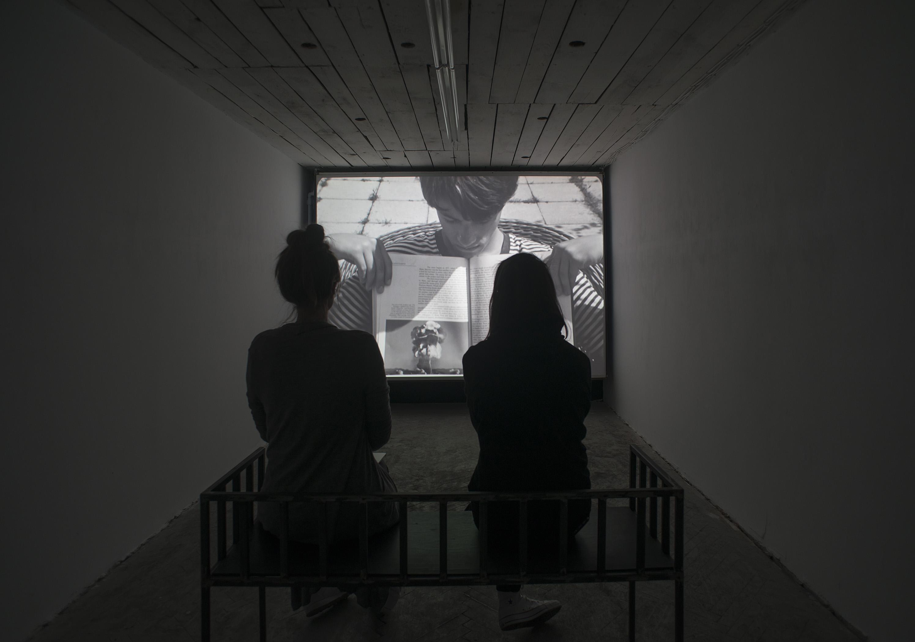 Działania zrodziną,  widok napracę Wilhelma Sasnala, Koreks, 2015