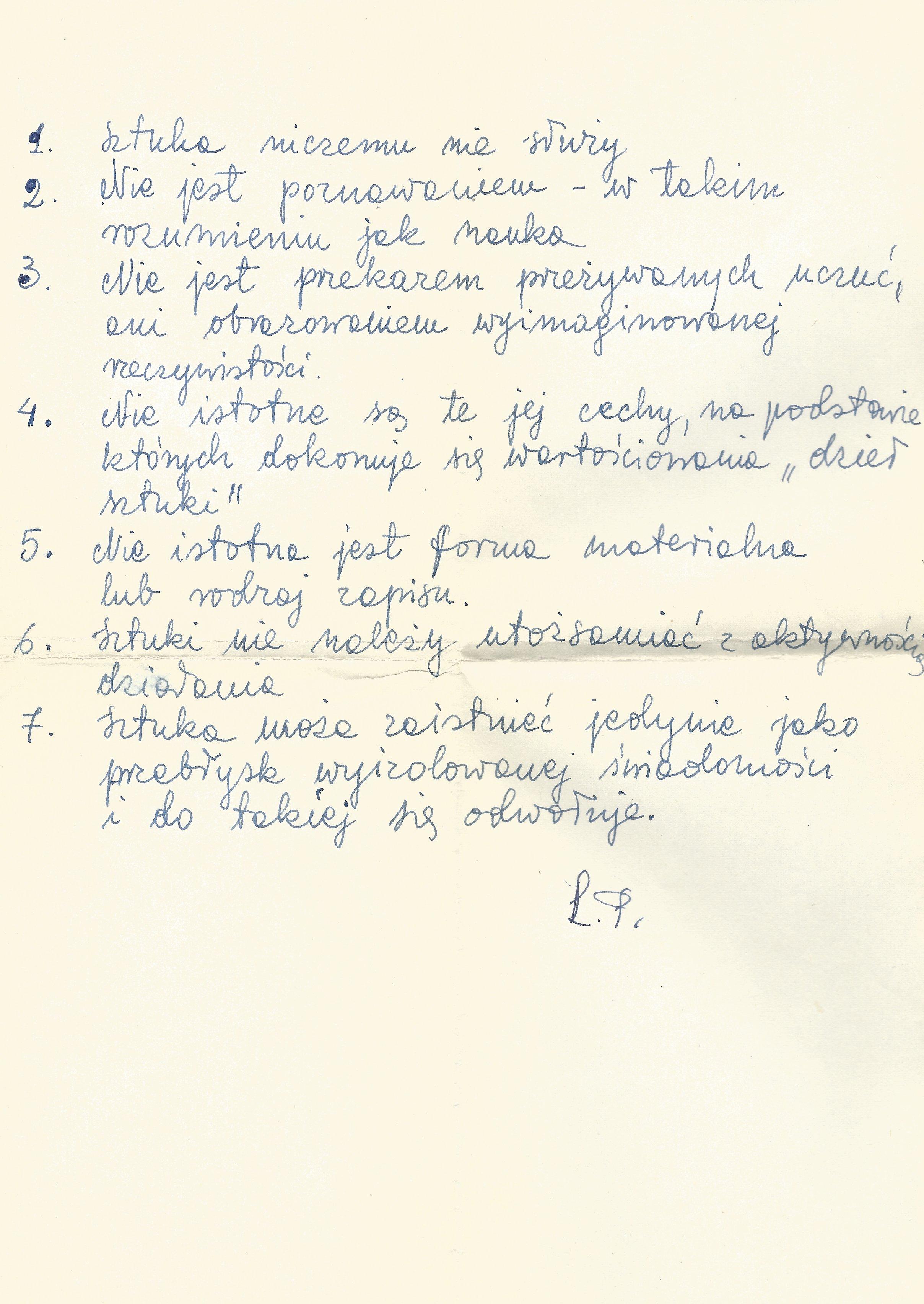 Ludmiła Popiel, Sztuka, rękopis, archiwum Ludmiły Popiel iJerzego Fedorowicza