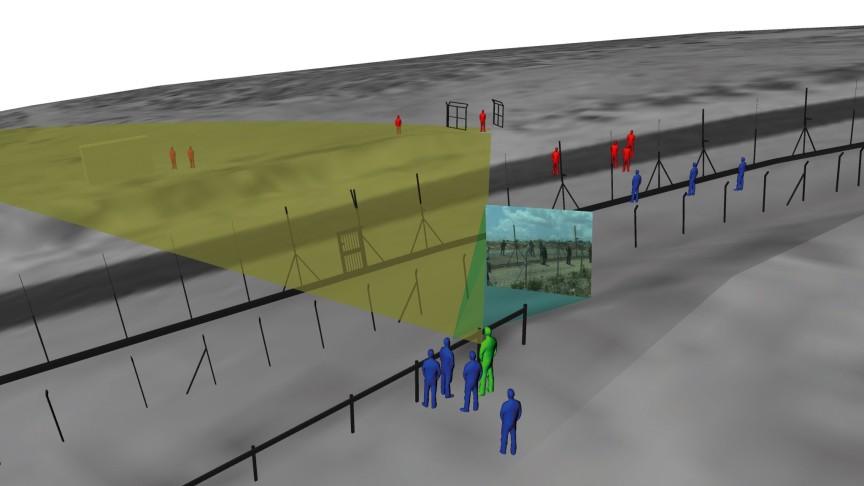 Forensis  | Forensic Architecture and SITU Research, rekonstrukcja 3D momentu zastrzelenia Bassema Abu Rahmy © Forensic Architecture and Situ Studio