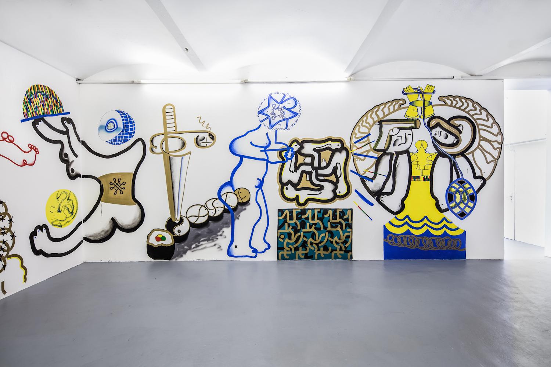 Pavla Malinova, World's Knot, mural, 2016
