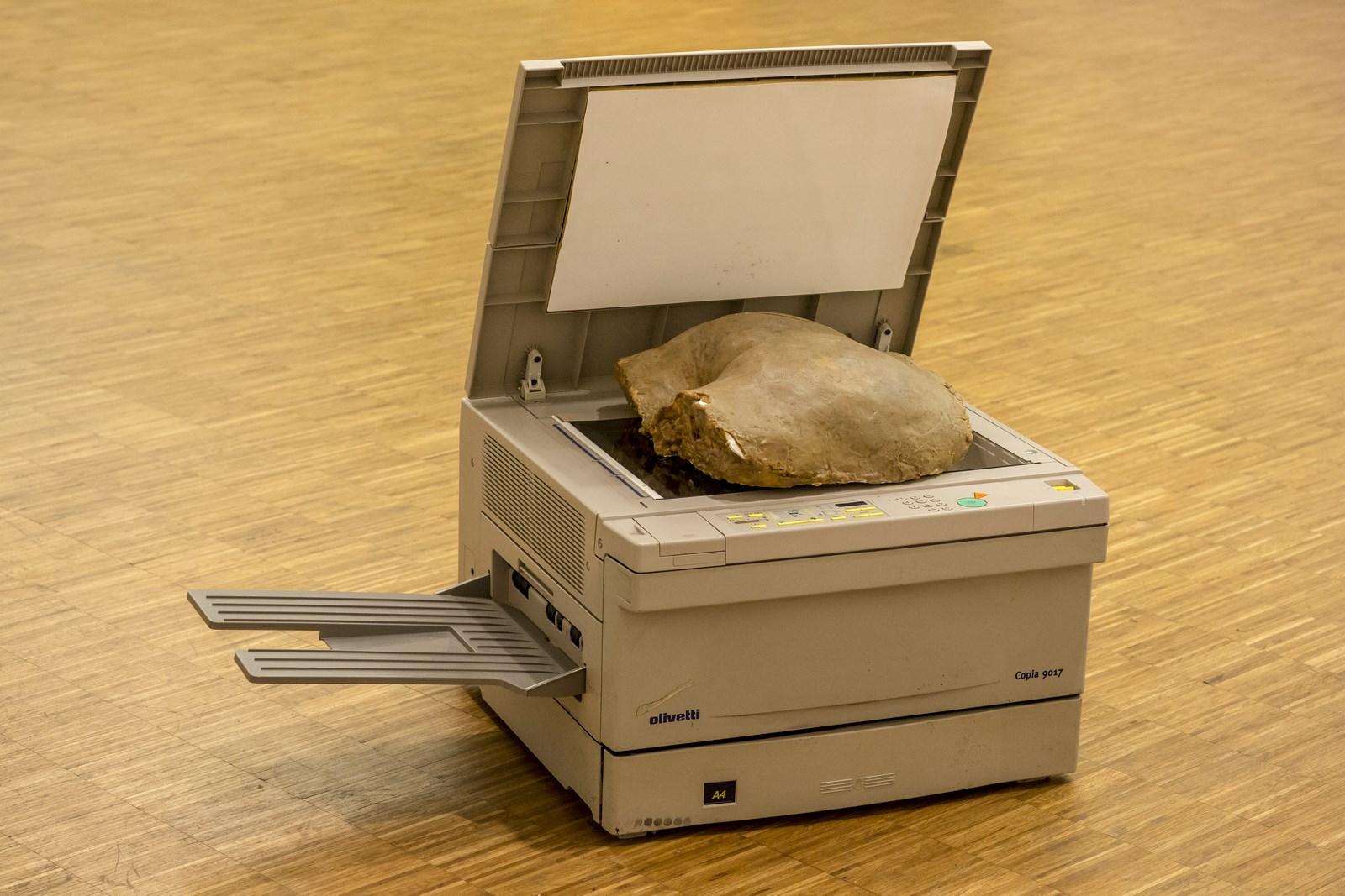 Sislej Xhafa, Whispering Ink, maszyna kserograficzna, forma zwosku, 2009, dzięki uprzejmości GALLERIA CONTINUA, San Gimignano / Beijing / Les Moulins / Habana