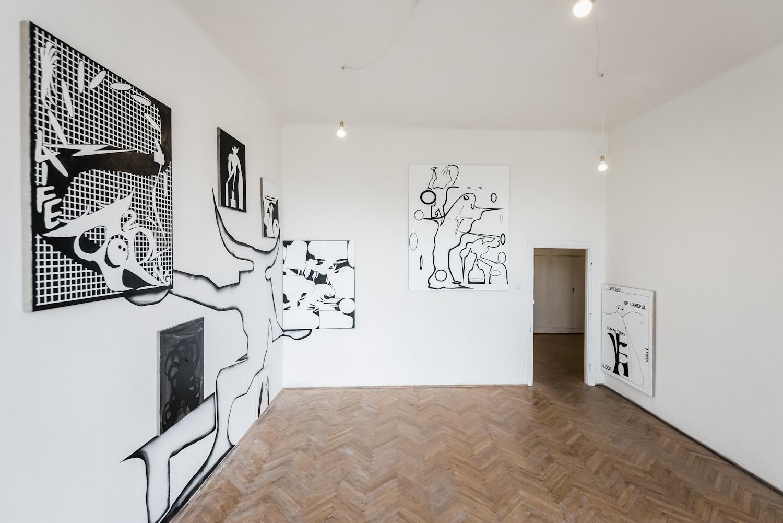 Cezary Poniatowski, No Center No Edges, widok wystawy, dzięki uprzejmości galerii Piktogram