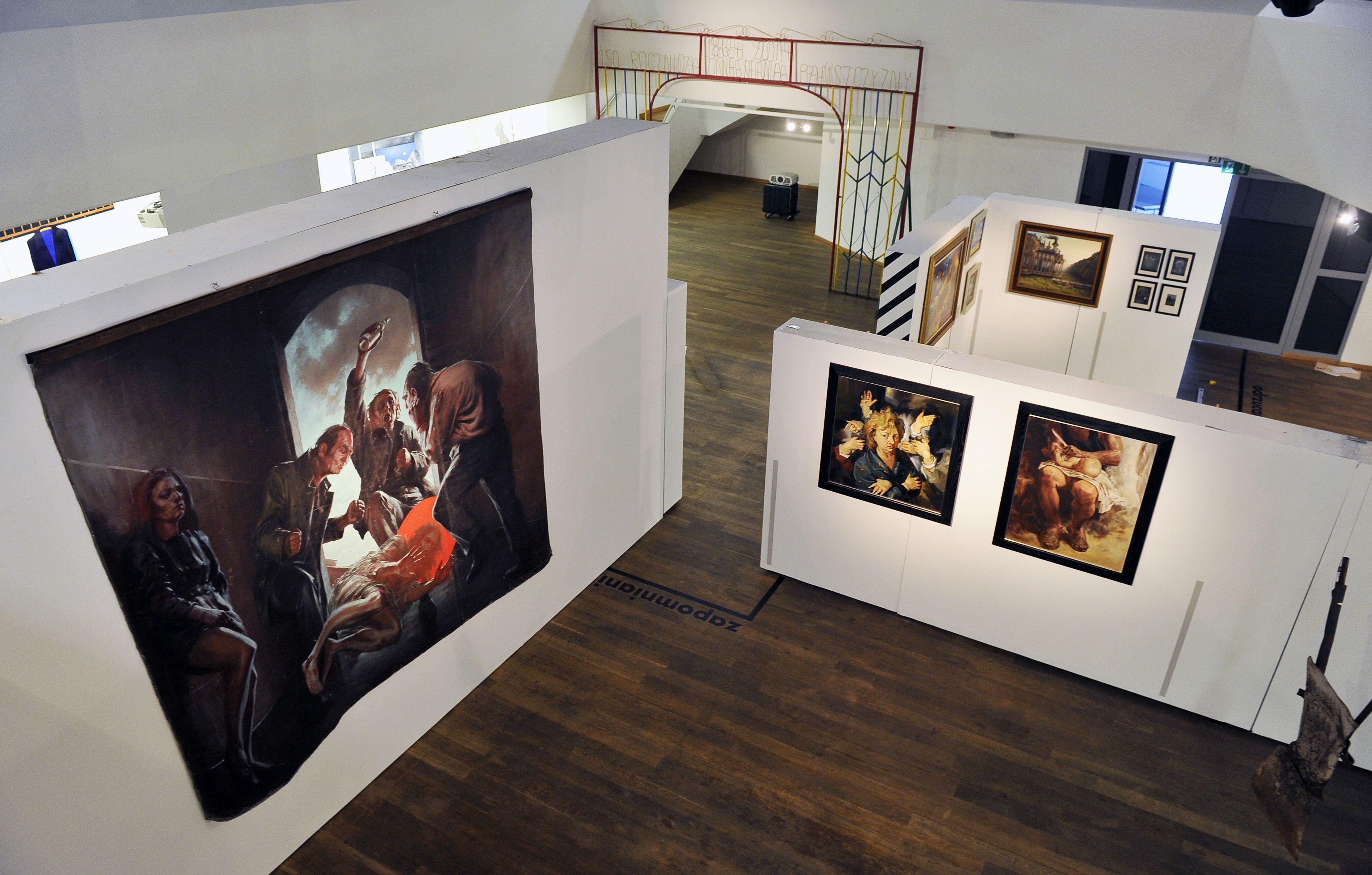 Salon Odrzuconych, widok wystawy