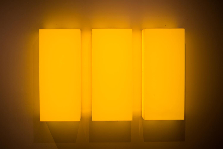 Leon Tarasewicz, beztytułu, plexi, LED 70×110×20 cm, 2016