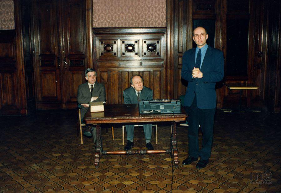 Od lewej: Jacek Ojrzyński, Stanislav Kolíbal, Jaromir Jedliński, 1993