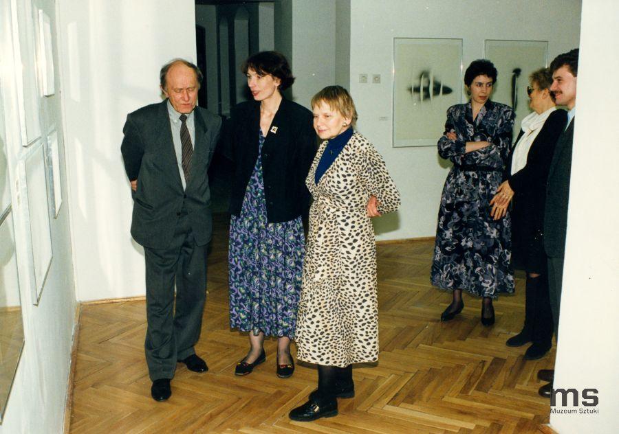 Od lewej: Stanislav Kolíbal, Anna Saciuk, Janina Ładnowska; pierwszy zprawej Cezary Pawlak