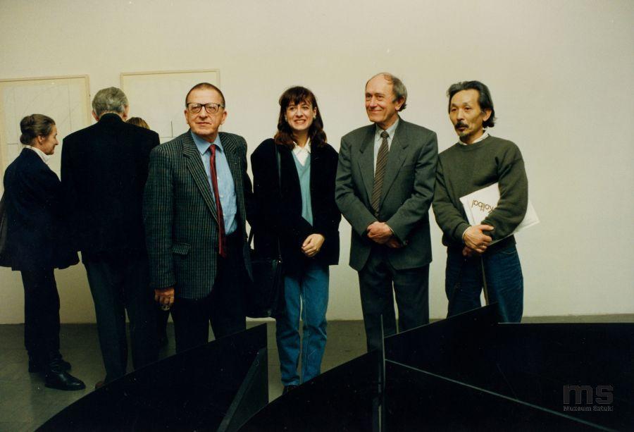 Od lewej: Ryszard Stanisławski, Krystyna Krygier, Stanislav Kolíbal, Koji Kamoji, 1993