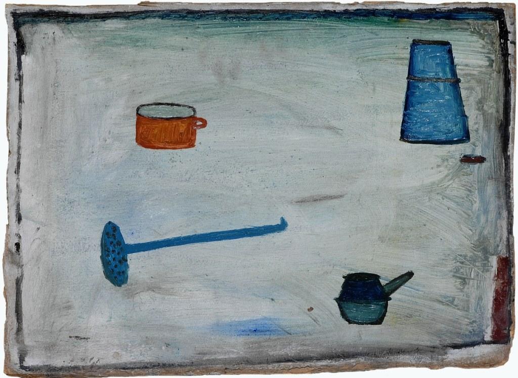 Jerzy Nowosielski, Martwa natura,1947, olej, tektura, 36 x 50 cm, fot.Erazm Ciołek
